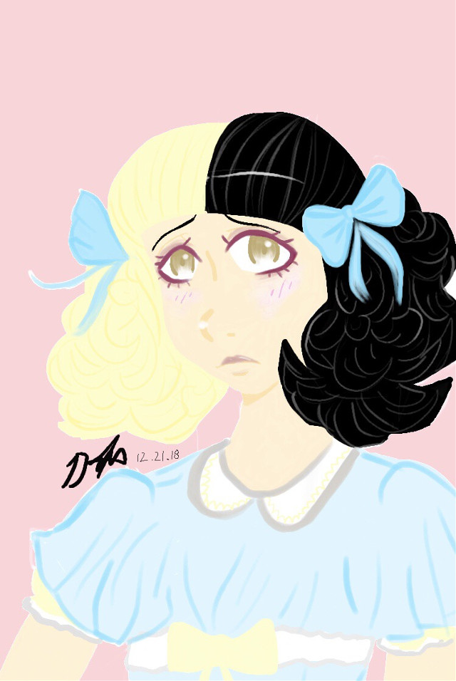 Finally finished this drawing of melanie martinez in pacify her👶 took me 2 HOURS...I'm tired now...Goodnight ma boiiz🌙 #melaniemartinez #pacifyher #mydrawing #digitalart
