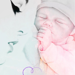 heartcrown lady mother baby love freetoedit