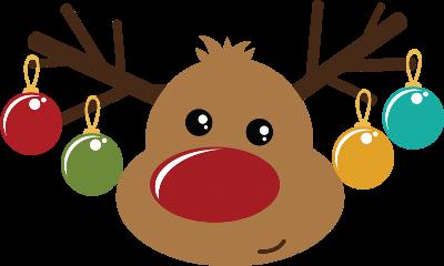 christmas merrychristmas reindeer ornament rudolph