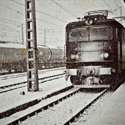 freetoedit train snow winter trainstation