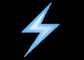 lightning emoji lightningemoji purple blue