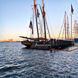 ship sea goldenhour flags travel pcship