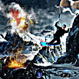 snowboarding 007 agent secret crash
