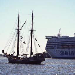 ship sea meeting water boat pcship