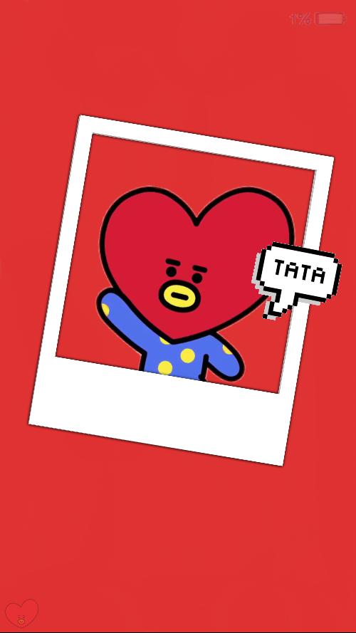 Tata Taehyung Kpop Bt21 Kimtaehyung Wallpaper Loockscre