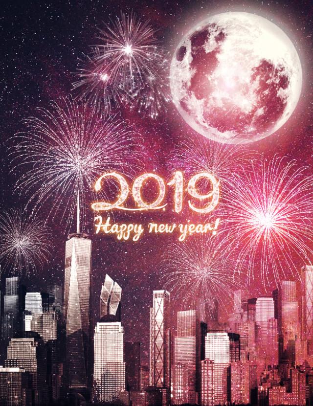 Happy new year🌟 #freetoedit #2019 #happynewyear