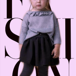 stylish fashionista little girl fashion freetoedit