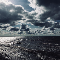 clouds sky sea nature newfoundland freetoedit