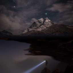 ircmarvelousandmajestic marvelousandmajestic freetoedit flashlight mountain