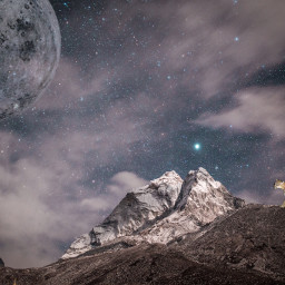 ircmarvelousandmajestic marvelousandmajestic freetoedit mountainlion moon
