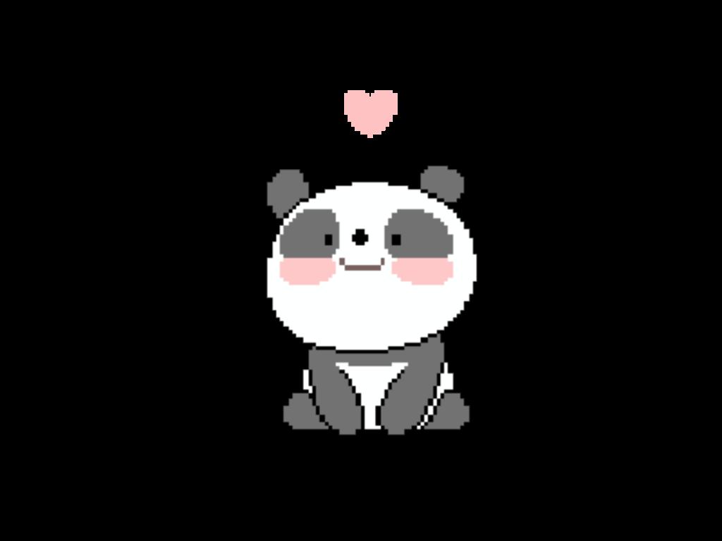 Panda Pixel Pixelart Kawaii Freetoedit