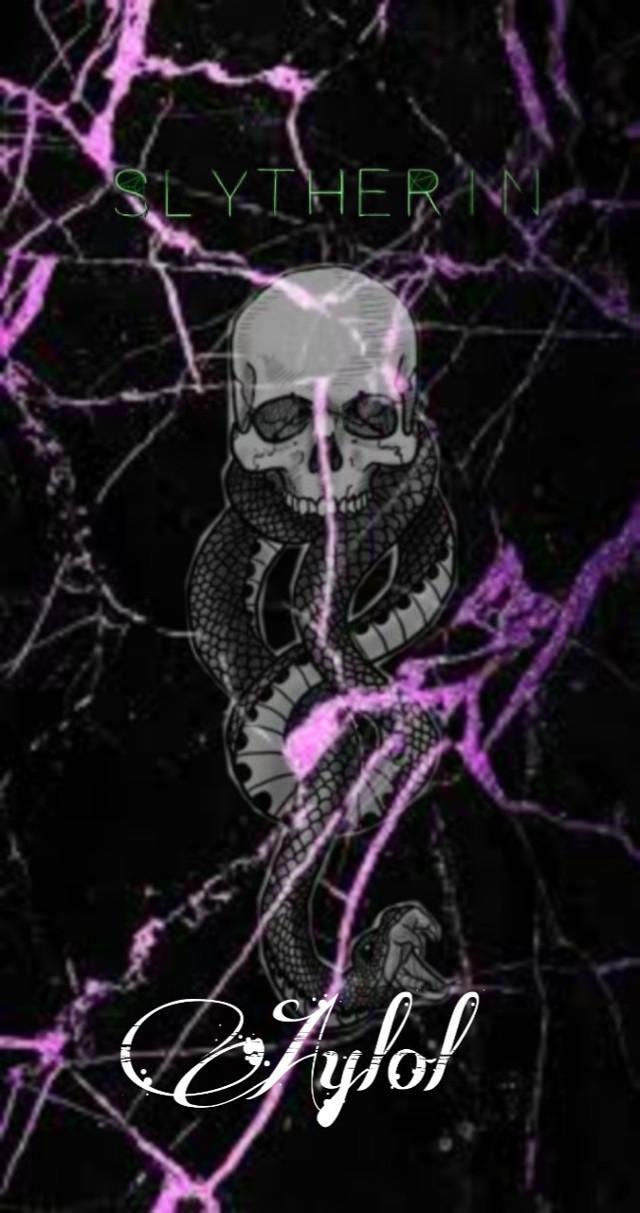 #marble #slytherin #black #purple #snake #wallpaper #dark #hogwarts #aylol