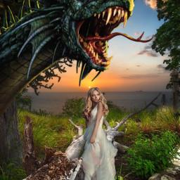 fantasy dragon myedit freetoedit