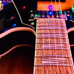 electricguitar black shiny reflection colored pclightinthedark pcmusicalinstruments