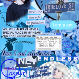 freetoedit blue aesthetic yoongi suga