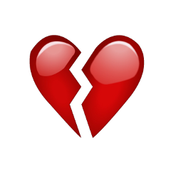 red heartbroken brokenheartemoji heartemoji emoji freetoedit