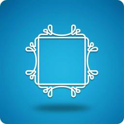 frame pattern white ornament decorative ftestickers freetoedit