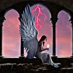 ircsky sky freetoedit lightening angel
