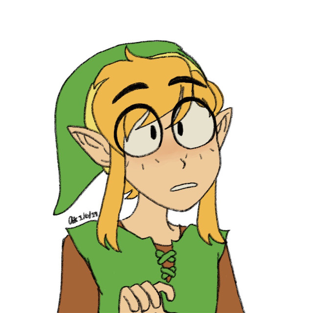 oh yes it's me  🌻#andysart #andysfanart #legendofzelda #loz #alinkbetweenworlds #albw #link #doodle #digitalart #digitaldoodle