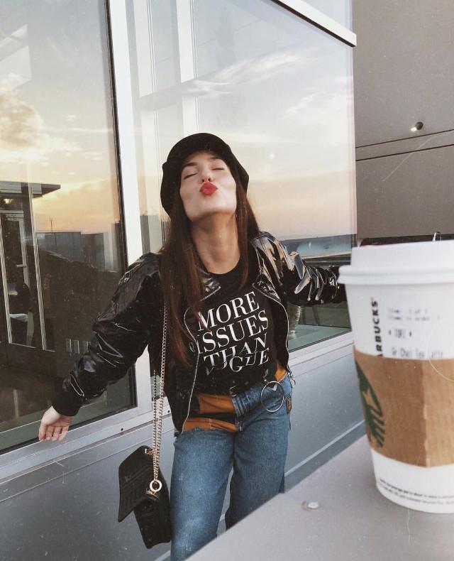 More issues than vogue but #happy    #freetoedit #losangeles #vogue #starbucks #coffeecup #cuteness #blackjack #kissyface #stripes #fashiongirl #fashionista #thefashionable