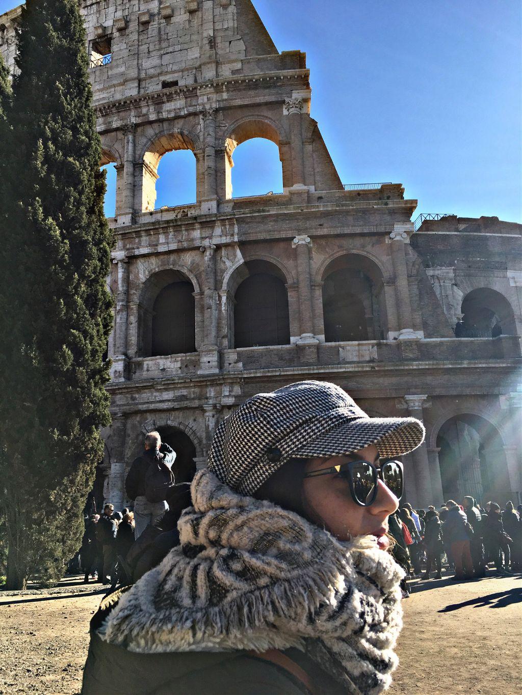 Paseo Por El Coliseo Romano Colosseo Coliseo Roma Italy