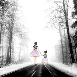 freetoedit black white forest girls