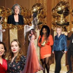 goldenglobes freetoedit women dress trophies