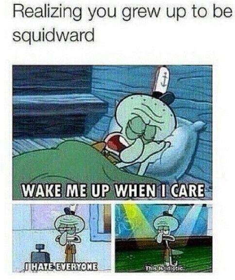 http://vignette1.wikia.nocookie.net/the-mysterious-mr ...  Spongebob Meme Squidward
