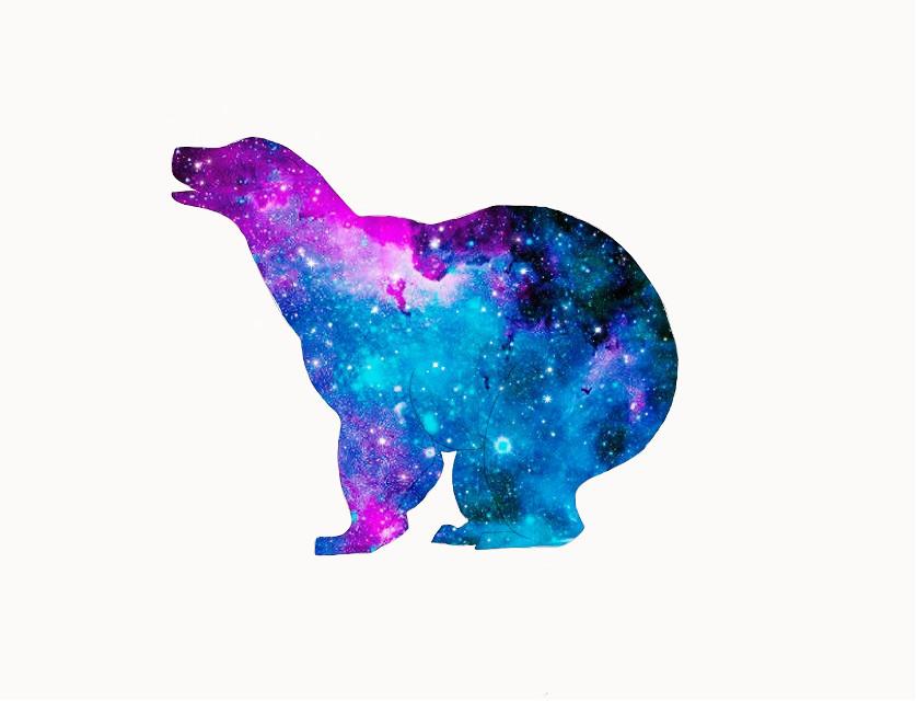 #freetoedit #bear #polarbear #polar #galaxy #stars #star #stardust #drawing
