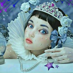 freetoedit moon stars whiteroses pearls srcshootingstars