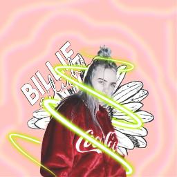 billieeilish billie flower neon green freetoedit