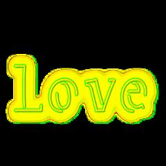 love neon neonlove ftestickers valentinesday fteyellow freetoedit