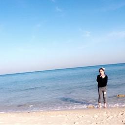 freetoedit kuwait beach sea mygirl pcthebestplace