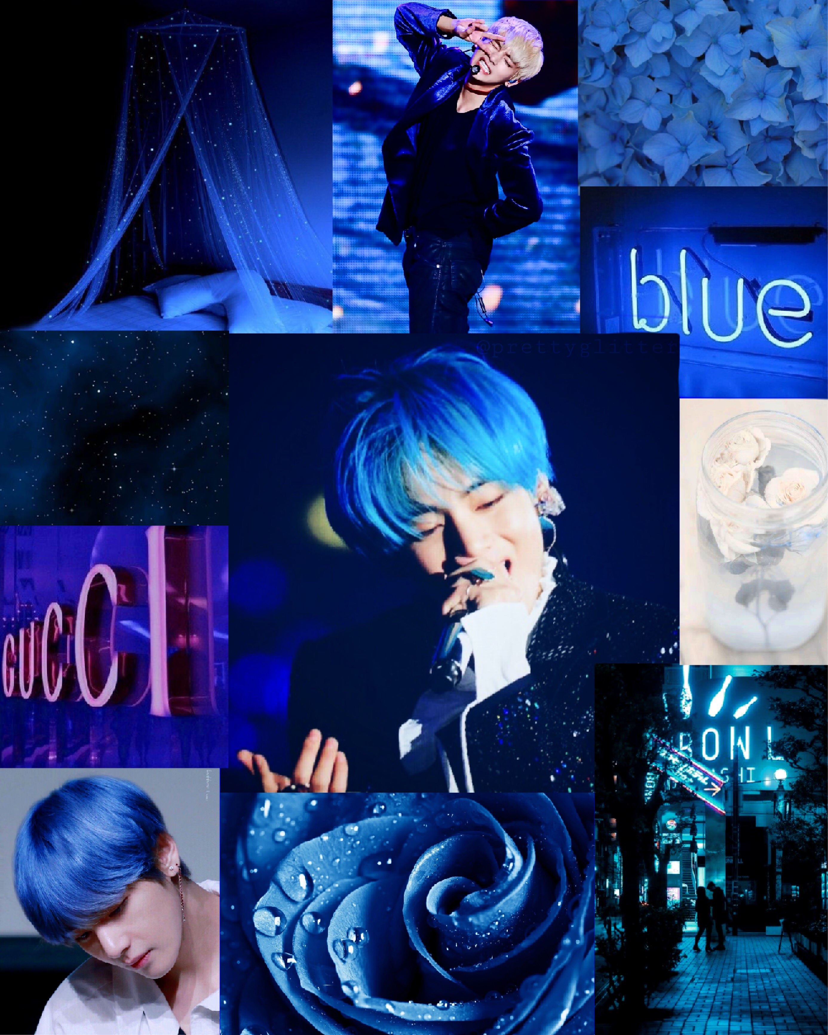 Kimtaehyung Vbts Bluehair Image By 𝓛 Blm