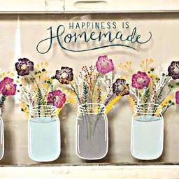freetoedit happiness homemade masonjars flowers