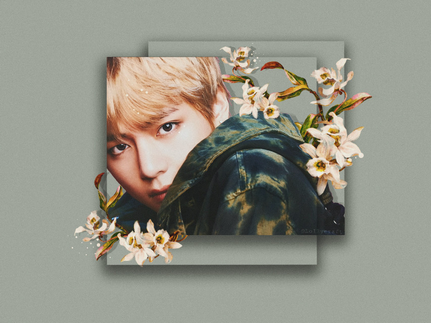 Tae💜😆  Tried out some new styles ;) Btw if you want any edit (like this one) in a wallpaper format just let me know :)  Hope you like it💜  Tae sticker - @jeonsnow 💙  #bts #taehyung #kimtaehyung #btsv #v #green #kpop