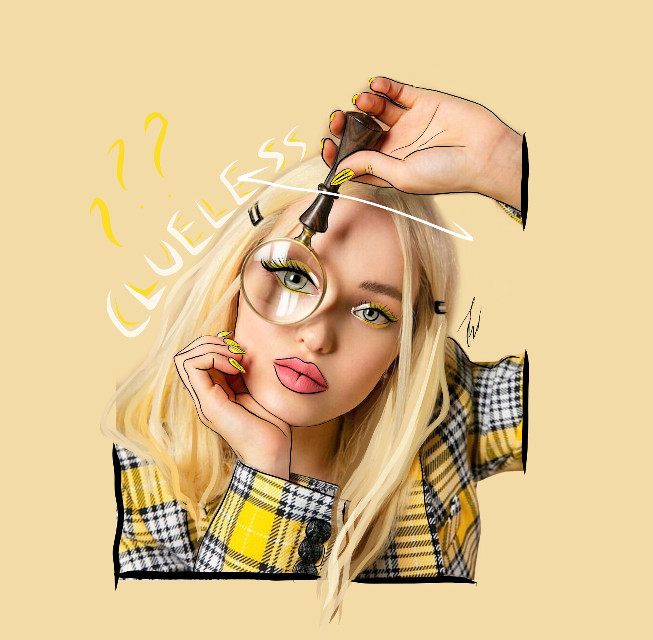 hi💓 outline of dove cameron✨ from clueless the musical🌼 #dovecameron #outline #outlines