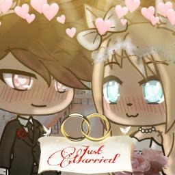 gachalife gacha wedding justmarried bride