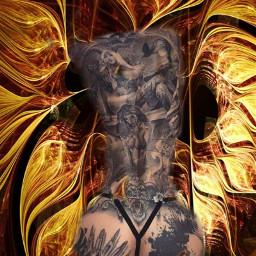 tattoos tattooart tattoogirl mypic freetoedit