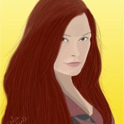dccolorfulhair colorfulhair colorful hair redhair freetoedit