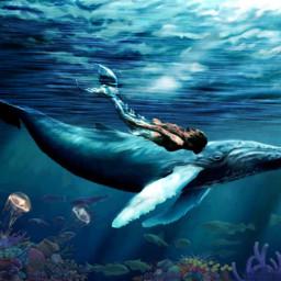 freetoedit fantasy sea ocean fish