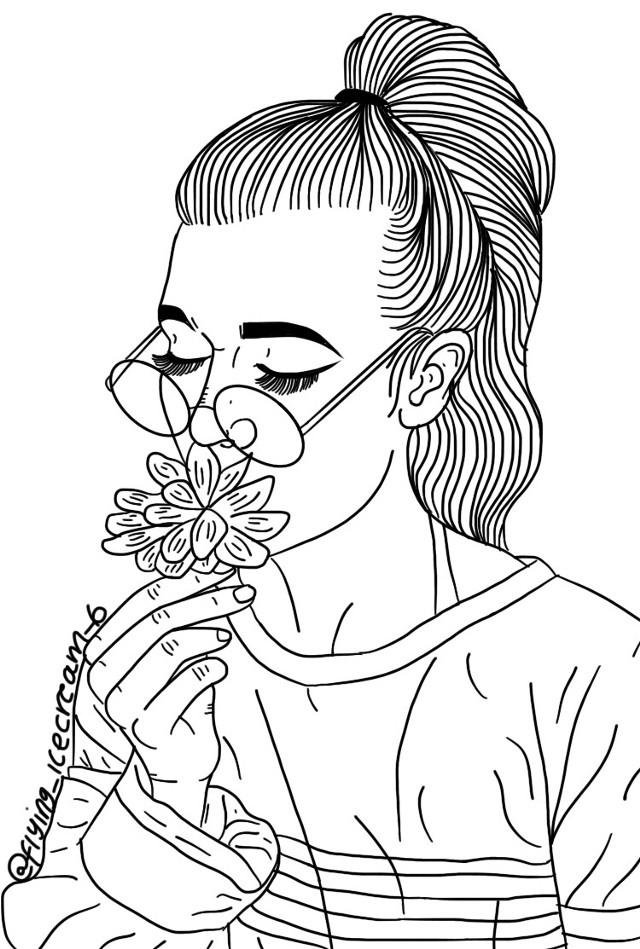 Trying something new!😊 #jessiepaege #flower #blackandwhite #lineart
