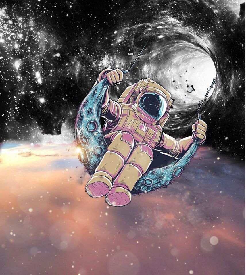 Astronaut's life : Swinging between two worlds! 💫 #vipshoutout @moondog #astronaut #swing #galaxy #sky #space #blackandwhite #colours #life #high #inbetween #interesting #edit #myedit #editedbyme @pa @freetoedit #freetoedit