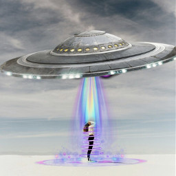 ufo alien space neonswirl holographic freetoedit