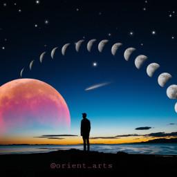 freetoedit moonphases moon bloodmoon nightsky