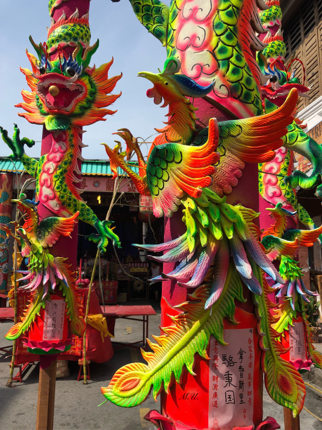 #colorful #incense #stick #dragon #Penang #Georgetown #Malaysia #temple #Chinese  #KuanYintemple #pcreligiousceremony #religiousceremony