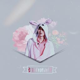 exo suho kimjunmyeon pink pastel