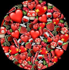 red emojis circle backgroud freetoedit