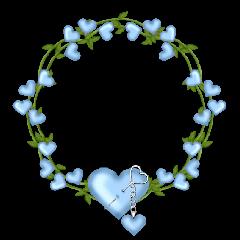 blue nature green heart lock