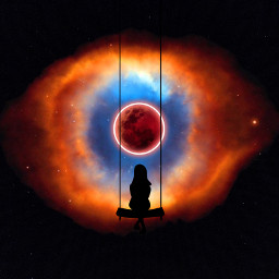freetoedit space stars bloodmoon moon